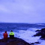 Venter ut stormen i Svolvær
