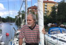 Kjell Litwin hjemme i Stockholm etter 14 måneder jorden rundt