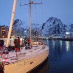 Etter et døgns gange fra Kaldfjord kom vi til Svolvær rett før stormen